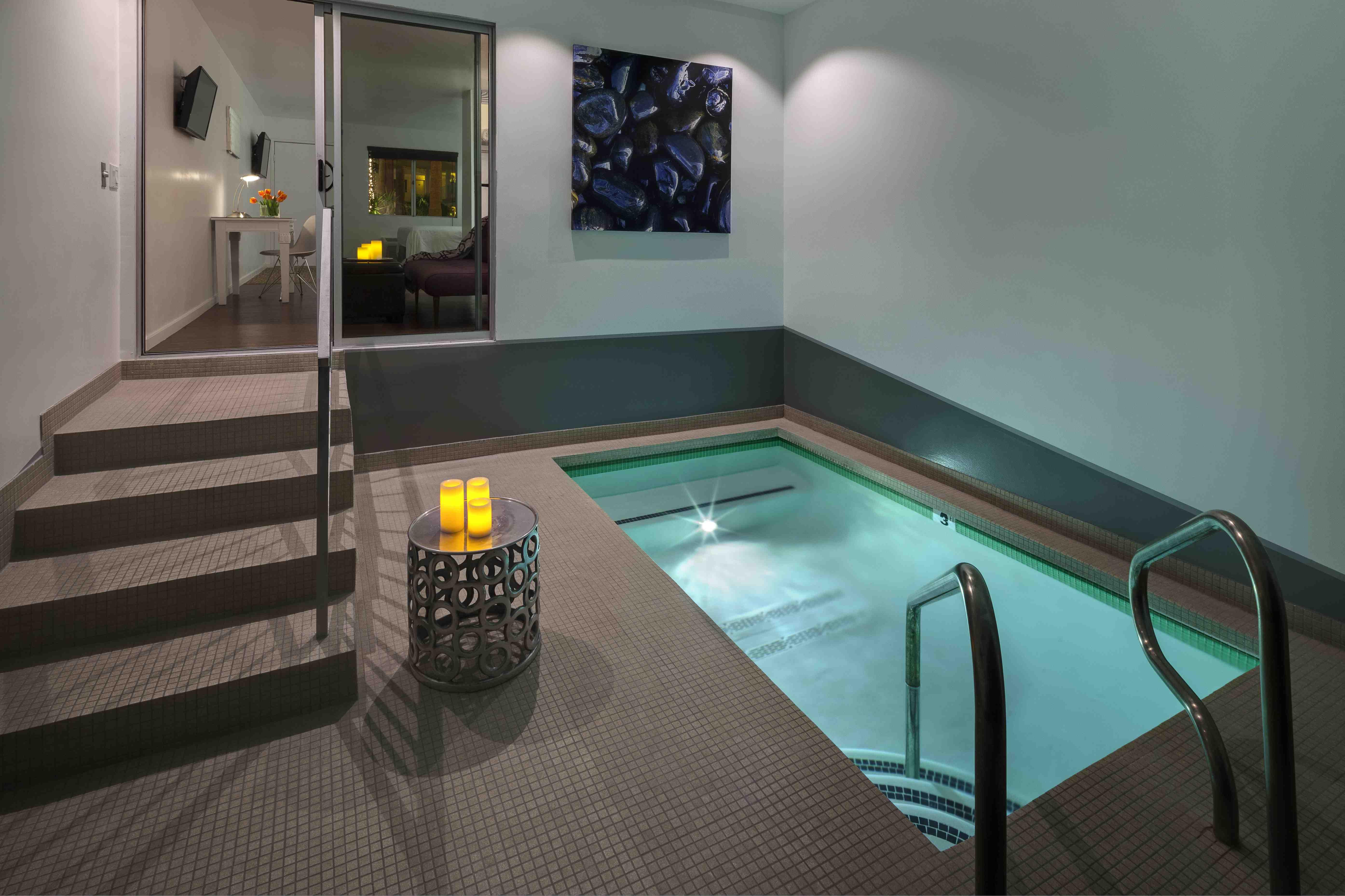 Private Mineral Water Pool in Soleil Suites