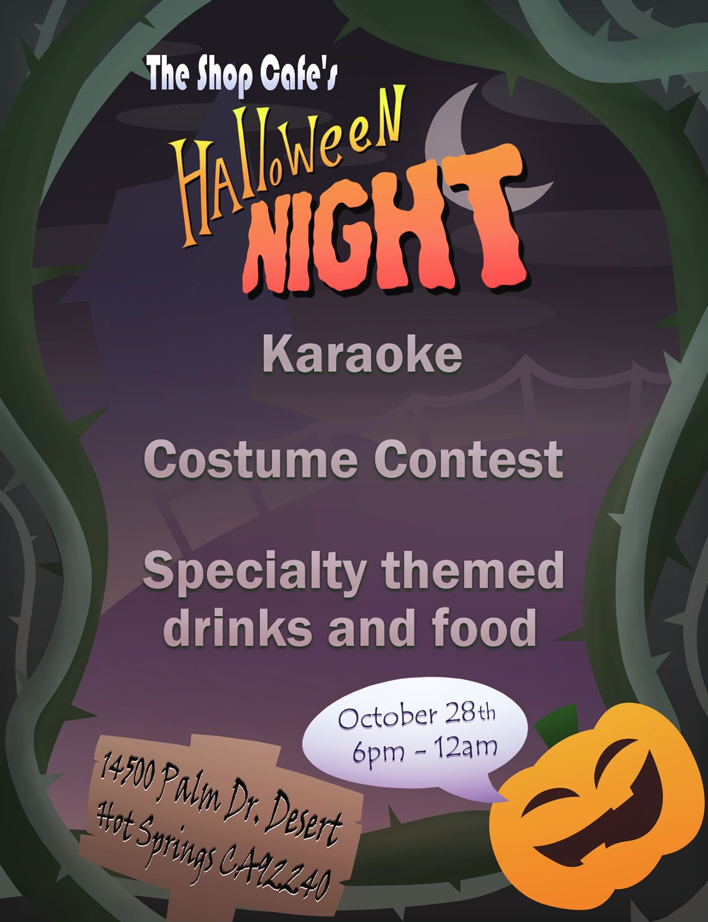 The Shop Cafe Halloween Karaoke Night