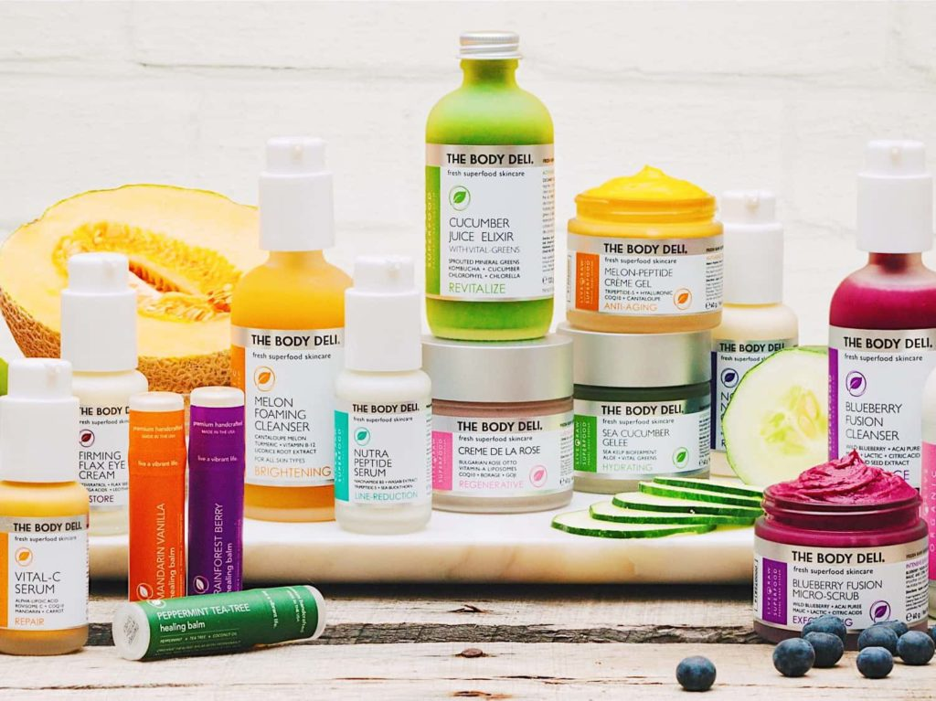 Colorful spread of various Body Deli products - Aqua Soleil Hotel & Mineral Water Spa