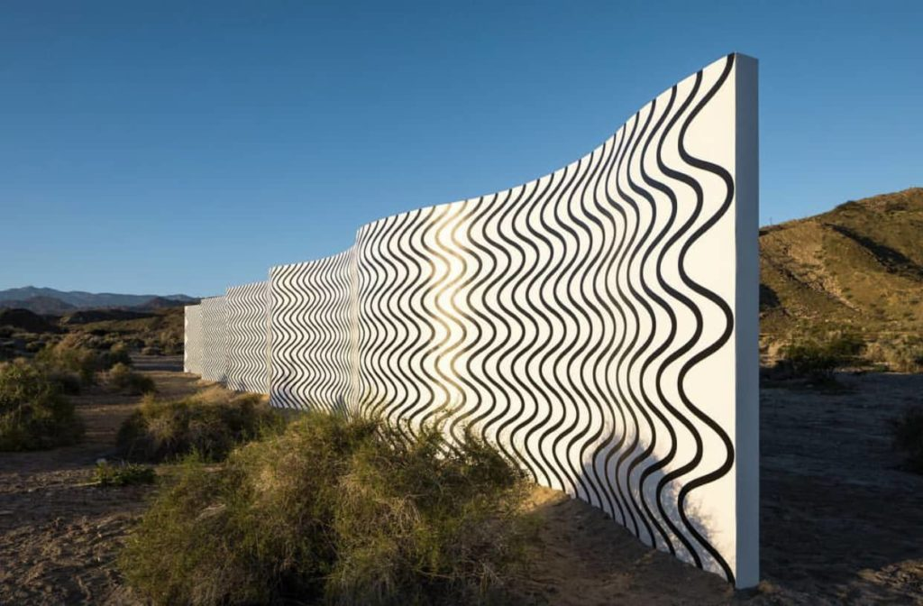 Curves and Zig Zags exhibit from Desert X